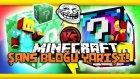 Türkçe Minecraft : Troll - Zümrüt Ve Gökkuşağı Şans Bloğu Yarışı!
