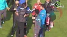 Adana Demirspor - Erciyesspor maçında yumruklar konuştu