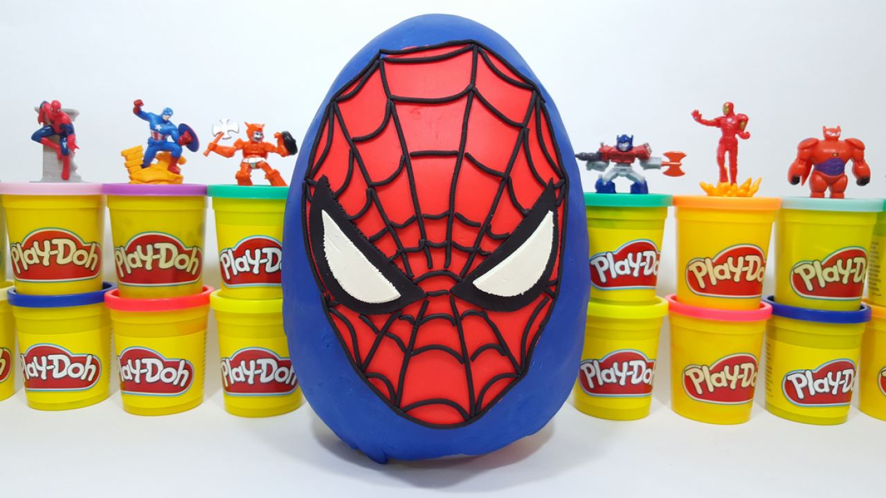 Oyun Hamurundan Dev örümcek Adam Sürpriz Yumurtası Paw Patrol Tom