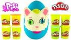 Pisi Oyun Hamuru DEV Sürpriz Yumurta Açma Pepee Harika Kanatlar Barbie Oyuncakları