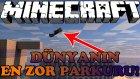 Minecraft Parkur Savaşları (Parkour War) - Cidden Dünyanın En Zor Parkuru !! - Parkur Haritası