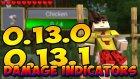 Minecraft Pe (Pocket Edition) 0.13.1 - Damage Indıcators Mod ! / Bthnclks