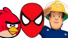 Long Finger Family Compilation for Boys/ Angry Birds, Spiderman, Fire Man Sam, Ben10 ext..