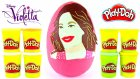 Violetta Oyun Hamuru DEV Sürpriz Yumurta Açma Disney Frozen Barbie Winx Oyuncakları