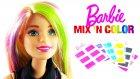 Barbie Saç Boyama Seti Mix 'N Color Hairstyling Doll