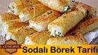 Sodalı Peynirli Rulo Börek Tarifi | Yufkadan Börek Tarifi