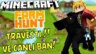 Canlı Ban Yemek Ve Travesti Onur !! - Minecraft Hayvan Saklambacı! - Türkçe Farm Hunt
