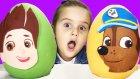 Dev Sürpriz Yumurta Paw Patrol Chase ve Paw Patrol Ryder Oyun Hamuru Play Doh EvcilikTV