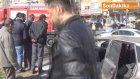 Şanlıurfa?da Yanan Otomobili Belediye Görevlileri Söndürdü