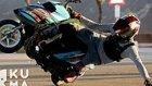 Scooter Üzerinde İmkansız Hareketler Yapan Çılgın Adam