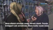 Zamlardan Şikayet Edip RTE'yi Öven Kadın