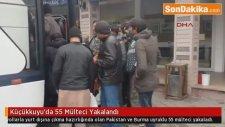 Küçükkuyu'da 55 Mülteci Yakalandı