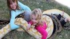 Evlerinde Çocuklarına 5 Metrelik Piton Yılanı Beslettiren Aile - ABD