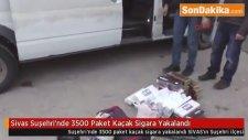 Sivas Suşehri'nde 3500 Paket Kaçak Sigara Yakalandı