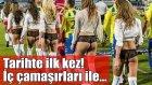 RKC Waalwijk Futbol Takımı Sahaya iç Çamaşır Mankenleri ile Çıktı