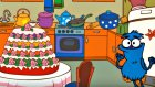 Edi Blue bir pasta yapmak istiyor - Eğitici çizgi film - Bulmaca oyunu