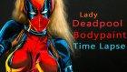 Vücudunu Boyayıp Deadpool Olan Kadın