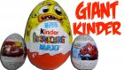 Giant Kinder Surprise Egg  Monster Cars Spiderman