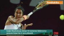 Türk Tenisçi Çağla  Büyükakçay'ın Maçı Esnasında Kortta Sürpriz Misafir!