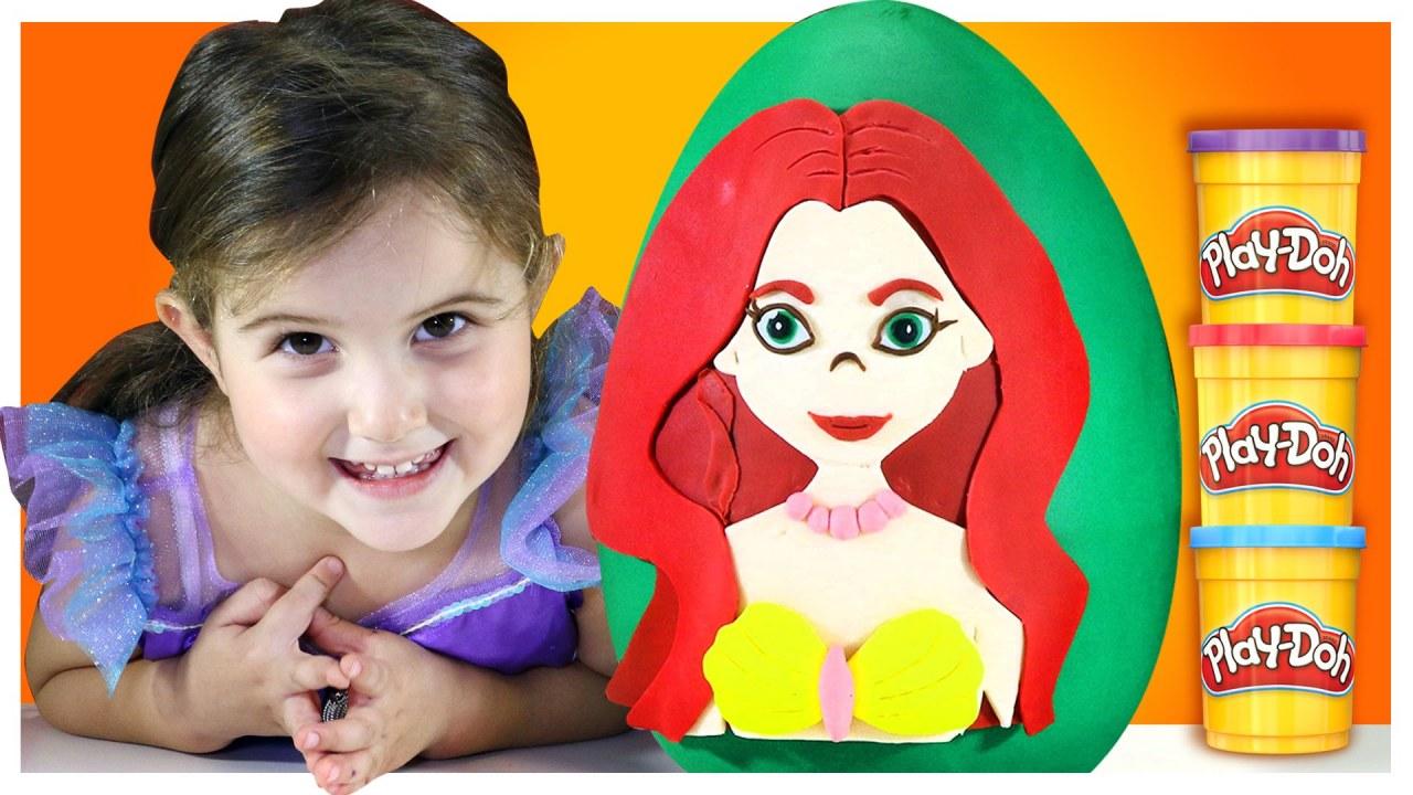 Dev Surpriz Yumurta Deniz Kizi Ariel Oyun Hamuru Play Doh