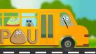 Pou Otobüsün Tekerleği Dönüyor Çocuk Şarkıları | Wheels On The Bus İngilizce Şarkı