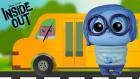 Ters Yüz Inside Out Otobüsün Tekerleği Dönüyor Çocuk Şarkısı İngilizce