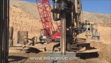 Erke Group Fuwa Quy120 Vinç Ve Soilmec R825 Fore Kazık Makinesi Hasankeyf