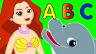 Küçük Deniz Kızı Ariel ile ABC Alfabe Öğreniyorum - Çizgi Film Çocuk Şarkıları 2016 - Adisebaba TV