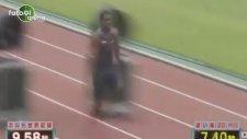 100 metre dünya rekorunu böyle geçti
