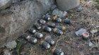 Yıkılan Cizre'de askeri mühümmatlar