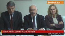 Vatan Partisi Genel Başkanı Perinçek