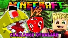 Türkçe Minecraft | PACMAN CHALLANGE OYUNLARI - Kırmızı Şans Bloğu - Modlu Minigames
