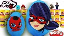 Dev Sürpriz Yumurta Mucize Uğur Böceği ile Kara Kedi Böcük Kız Oyun Hamuru Play Doh - EvcilikTV