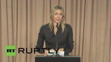 Sharapova'dan Doping İtirafı
