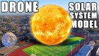 Gezegenlerin Güneş Sistemindeki Yerlerini Futbol Sahasını Kullanarak Anlatan Video