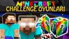 Türkçe Minecraft | HEROBRİNE CHALLENGE OYUNLARI - Gökkuşağı Şans Bloğu - Modlu Minigames