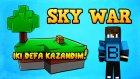 2 KERE KAZANDIM! - Minecraft Sky Wars - Hızlı Düşünmek - Barış Oyunda