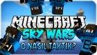 O NASIL TAKTİK? - Minecraft Sky Wars - Gökyüzü Savaşları- Barış Oyunda