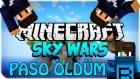 PASO ÖLDÜM! - Minecraft Takımlı Sky Wars - Aziz Taşıdı!- Barış Oyunda