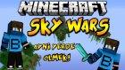 SİNİR! - Minecraft Sky Wars - Aynı Yerde Ölmek! - Barış Oyunda