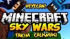 Takım Çalışması! - Minecraft Takımlı Sky Wars - Gökyüzü Savaşları - Baris Oyunda