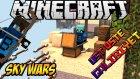 ÜST ÜSTE GALİBİYET! - Minecraft Sky Wars - Gökyüzü Savaşları- Barış Oyunda