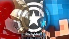 Minecraft : Civil War (1v1) - Captain America Vs Iron Man -Azizgaming35