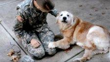Dostunun Askerden Gelmesiyle Ağlamaya Başlayan Duygusal Köpek
