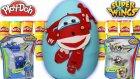 Dev Sürpriz Yumurta Harika Kanatlar Jett Super Wings Oyun Hamuru Play Doh - Evcilik Tv