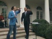 Obama'nın Beyaz Saray'da Rap Yapması