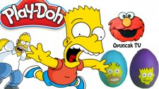Homer Ve Bart Simpson İle  Süpriz Yumurta Açılımı (Play Doh Oyun Hamuru) - Oyuncaktv