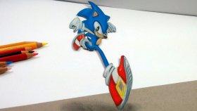 Aşırı Gerçekci 3D Sonic X Çizimim | 3D Çizim Nasıl Yapılır?