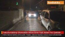 Konya'da, Takozla Kaldırıp Otomobilin Altına Giren Yaşlı Adam Feci Şekilde Can Verdi