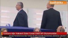 Türklere Ağır Hakaret Eden Yunan Vekil AP Oturumundan Kovulması